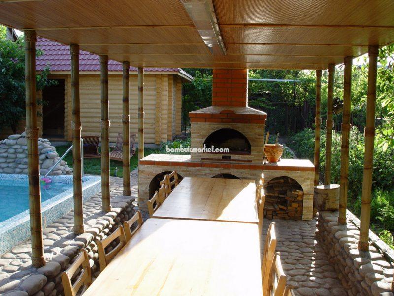 Бамбуковый ствол в интерьере