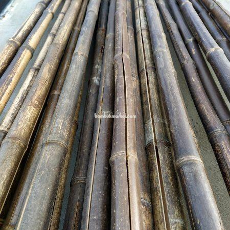Бамбуковый ствол черный д.3-4см, высота 3 м, СОРТ 3 - фото 1