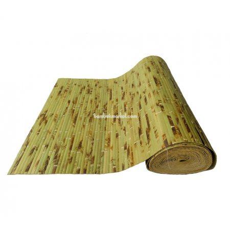 Бамбуковые обои,15х2,0м,черепаховые, нелак.,полоса 17мм - фото 1