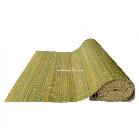 Бамбуковые обои,15х1,0м,бледно-зеленые,нелак.,полоса 17мм - фото 1