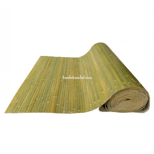 Бамбуковые обои,15х1,0м,бледно-зеленые,нелак.,полоса 17мм