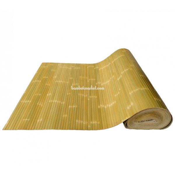Бамбуковые обои,15х1,0м,зеленые, лак.мат,полоса 17мм