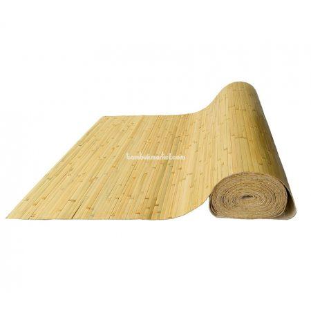 Бамбуковые обои, ширина 1,0м, бледно-зеленые, нелак., полоса 17мм - фото 1