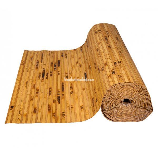Бамбуковые обои,10х0,9м, черепаховые/темные пропиленные,нелак.,полоса 12/8мм