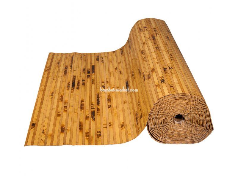 Бамбуковые обои,10х0,9м, черепаховые/темные пропиленные,нелак.,полоса 12/8мм – фото 3