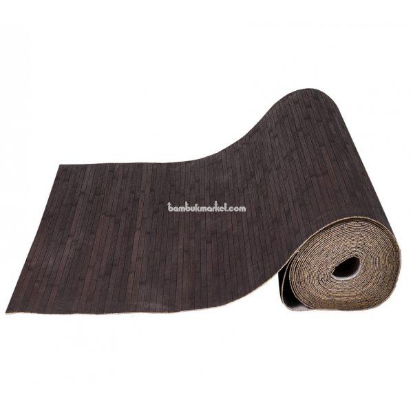 Бамбуковые обои,10х1,5м, венге,нелак, полоса 12мм