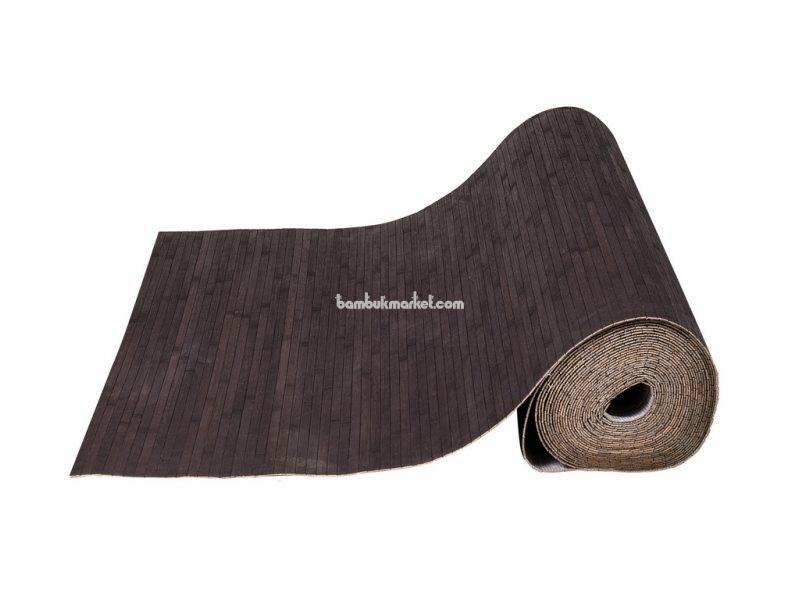 Бамбуковые обои,10х0,9м, венге,нелак, полоса 12мм – фото 1