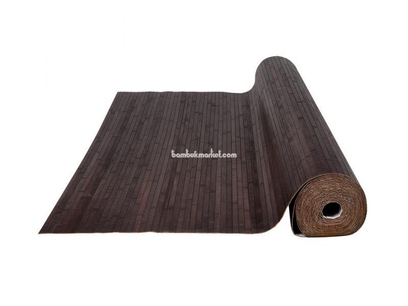 Бамбуковые обои,10х0,9м, венге,нелак, полоса 17мм – фото 1
