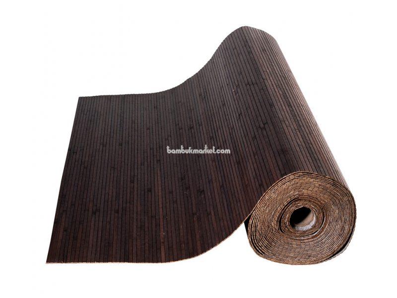Бамбуковые обои,10х1,5м, венге,нелак, полоса 8мм – фото 2