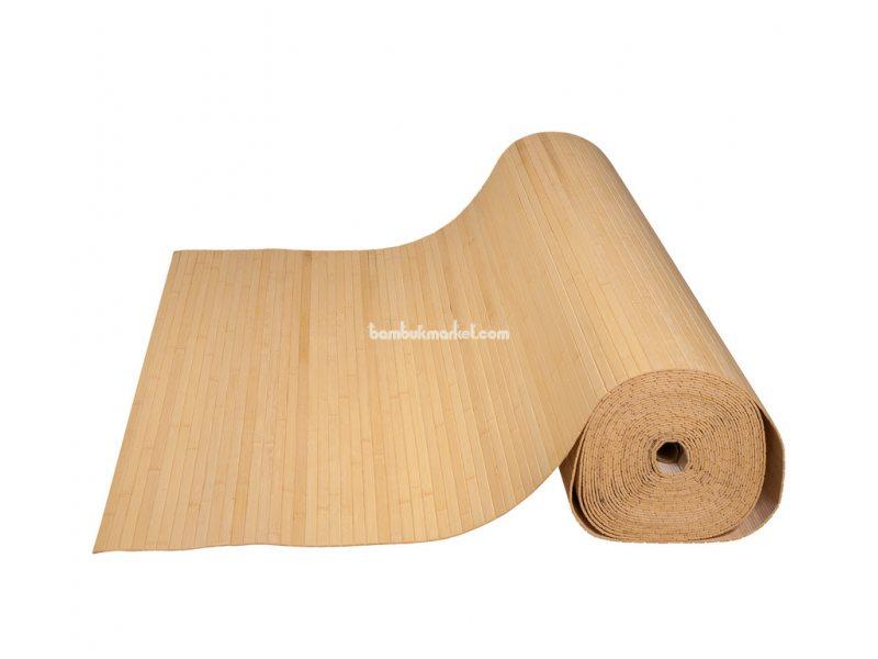 Бамбуковые обои,10х1,5м, светлые,нелак.,полоса 12мм – фото 1