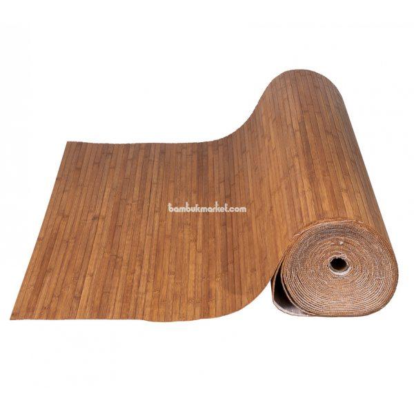 Бамбуковые обои,10х1,5м, темные,нелак.,полоса 12мм