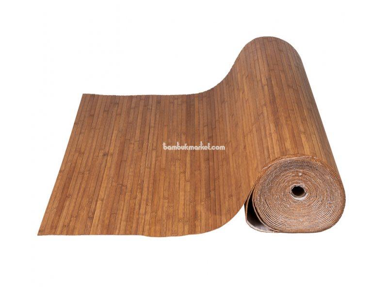 Бамбуковые обои,10х1,5м, темные,нелак.,полоса 12мм – фото 3