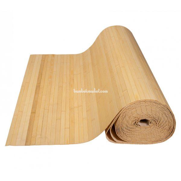 Бамбуковые обои,10х0,9м, светлые,нелак.,полоса 17мм