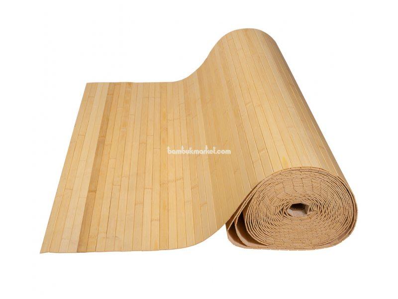 Бамбуковые обои,10х0,9м, светлые,нелак.,полоса 17мм – фото 4