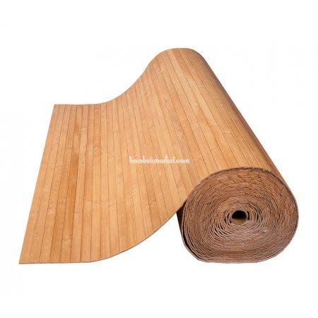Бамбуковые обои,10х2,0м, темные,нелак.,полоса 17мм - фото 1