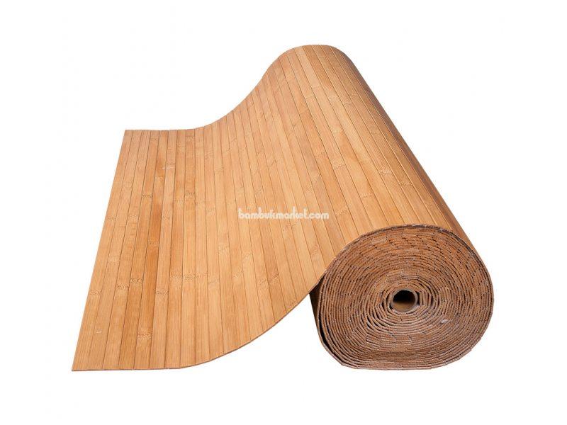 Бамбуковые обои,10х1,5м, темные,нелак.,полоса 17мм – фото 13