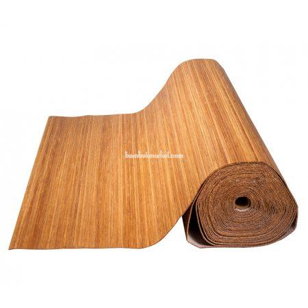 Бамбуковые обои,10х1,5м, темные,нелак.,полоса 5мм - фото 1