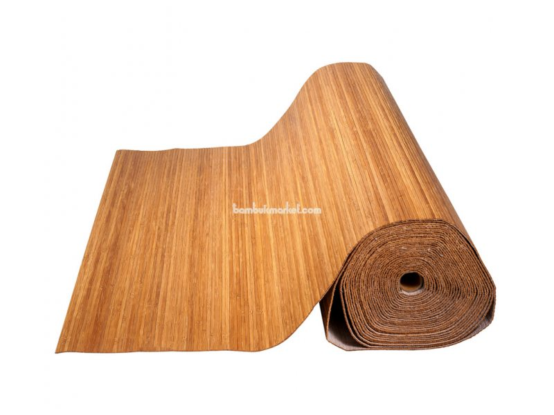 Бамбуковые обои,10х0,9м, темные,нелак.,полоса 5мм – фото 1