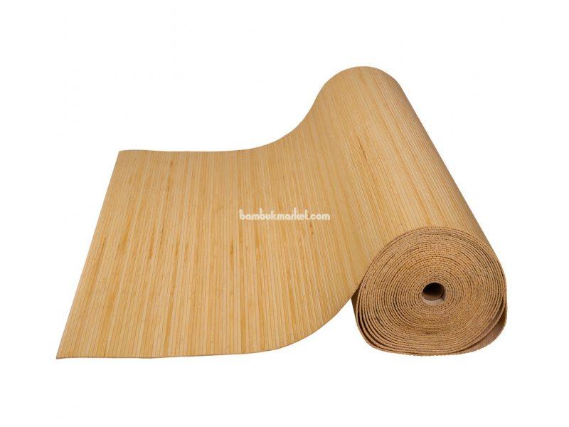 Бамбуковые обои,10х0,9м, светлые,нелак.,полоса 5мм – фото 1