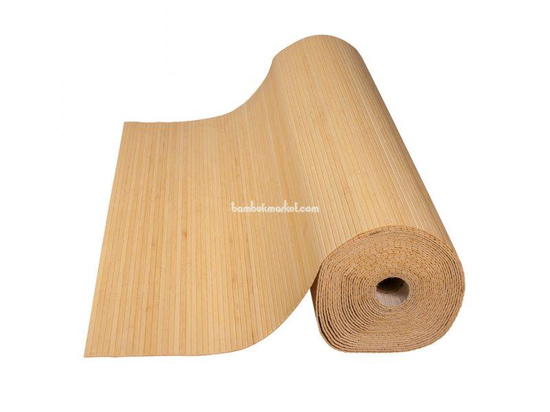 Бамбуковые обои,10х0,9м, светлые,нелак.,полоса 8мм – фото 1