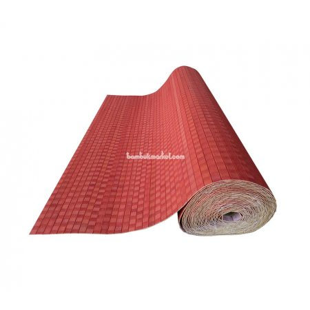Бамбуковые обои,10х1,5м, красные,нелак.,полоса 17мм - фото 1