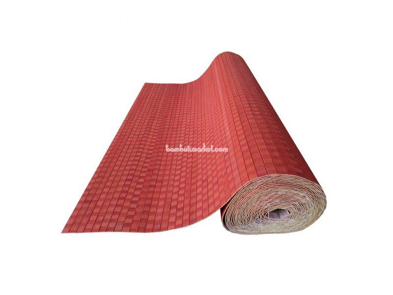 Бамбуковые обои, 10х0,9м, красные, нелак., планка 17мм – фото 5