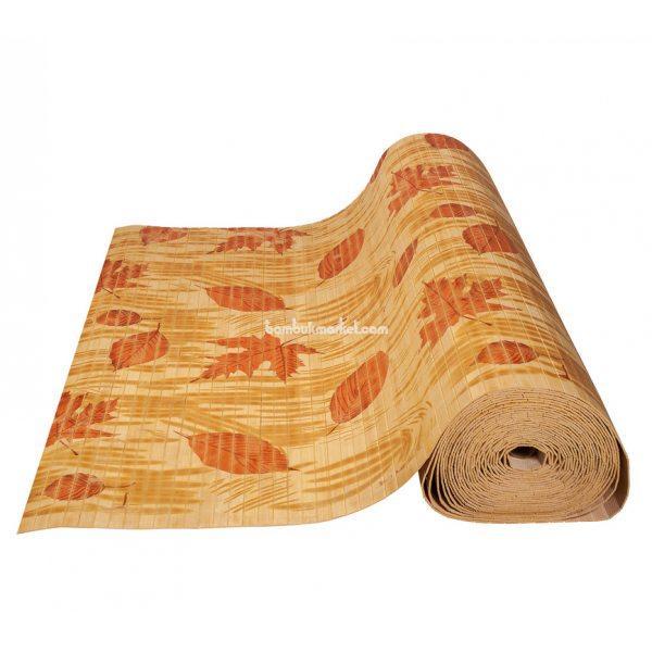 Бамбуковые обои,10х0,9м, светлые,нелак.,полоса 17мм, Осень