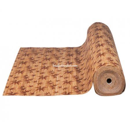 Бамбуковые обои,10х1,5м, темные,нелак.,полоса 8мм, Листья бамбука - фото 1