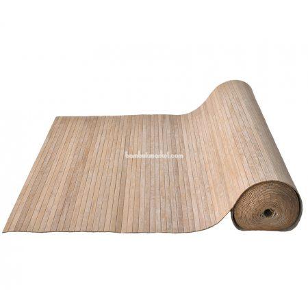 Бамбуковые обои, ширина 0,9м, кофейные, нелак., планка 17мм - фото 1