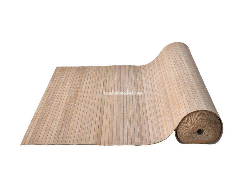 Бамбуковые обои, 10х1,5м, кофейные, нелак., планка 17мм – фото 4