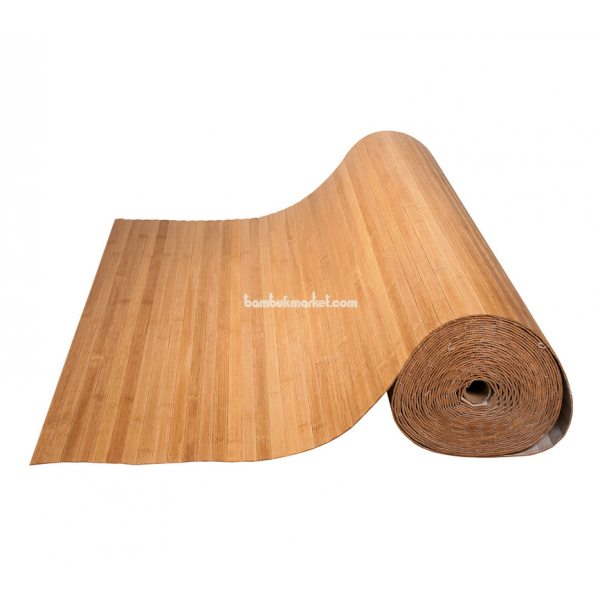 Бамбуковые обои,15х1,0м, темные,пропиленные,нелак.,полоса 17мм