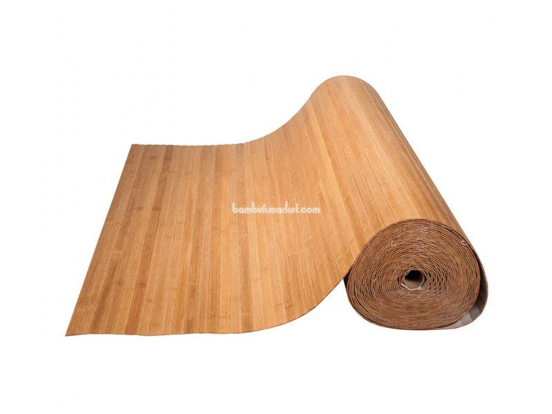 Бамбуковые обои,15х1,0м, темные,пропиленные,нелак.,полоса 17мм – фото 4