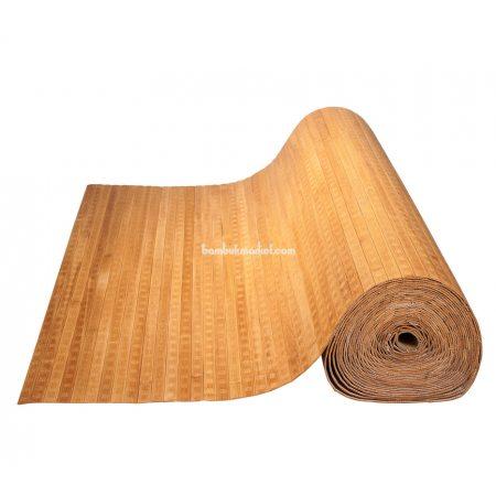 Бамбуковые обои,10х2,5м, темные,пропиленные,квадратная звезда,полоса 17мм - фото 1