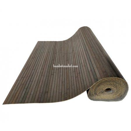 Бамбуковые обои,10х1,5м, серо-зеленые,нелак.,полоса 17мм - фото 1