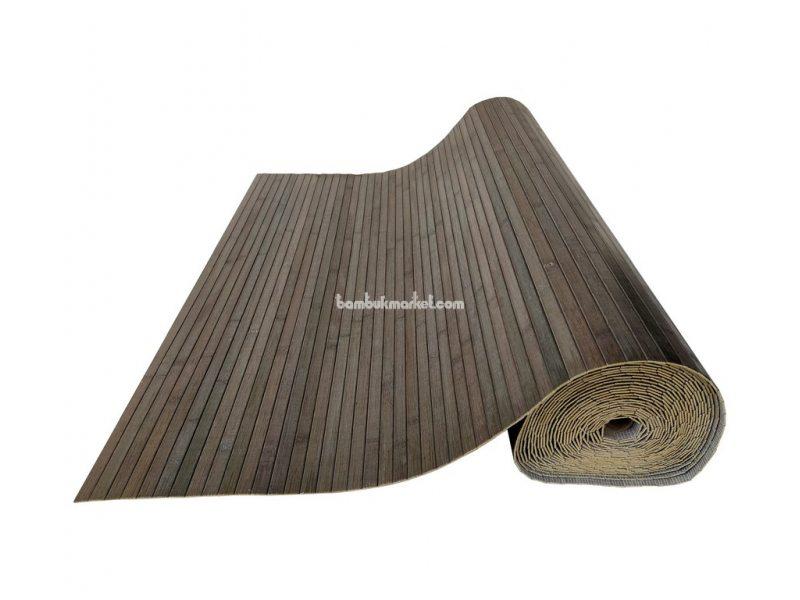 Бамбуковые обои, 10х0,9м, серо-зеленые, нелак., планка 17мм – фото 4