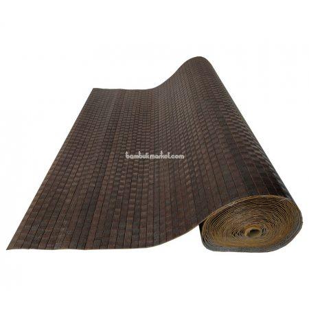 Бамбуковые обои,10х0,9м, венге-волна,нелак, полоса 17мм - фото 1