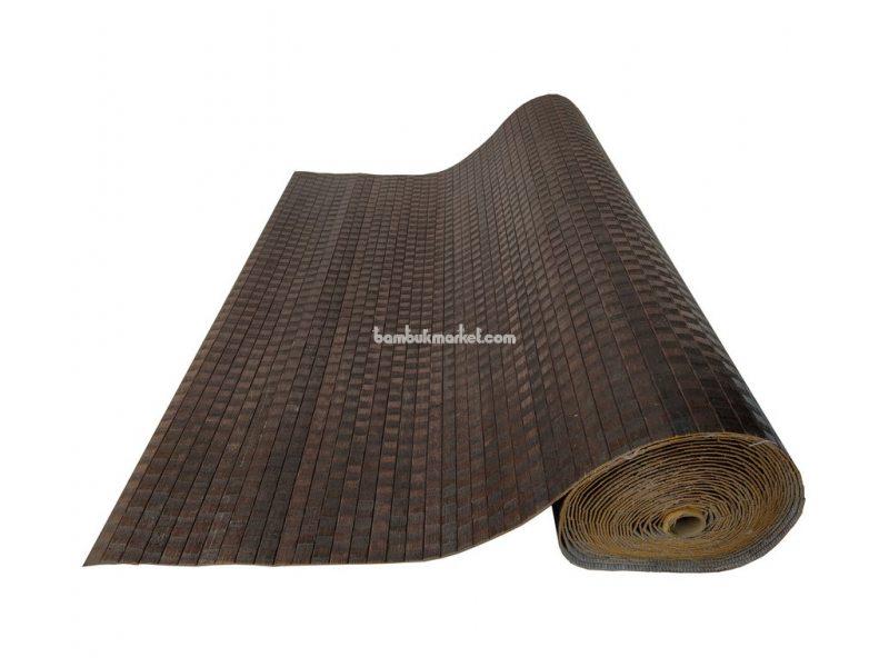 Бамбуковые обои,10х1,5м, венге-волна,нелак, полоса 17мм – фото 4