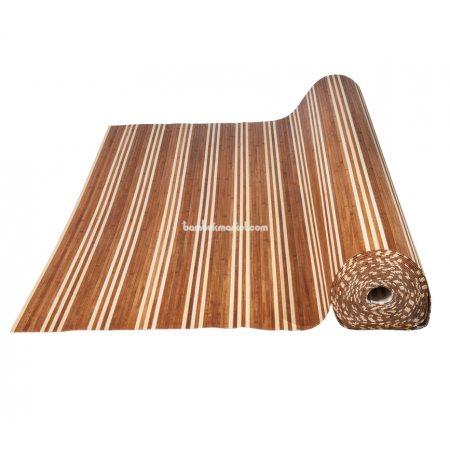 Бамбуковые обои,10х1,5м, темно/светлые,нелак.,полоса 8мм. BW-06 - фото 1