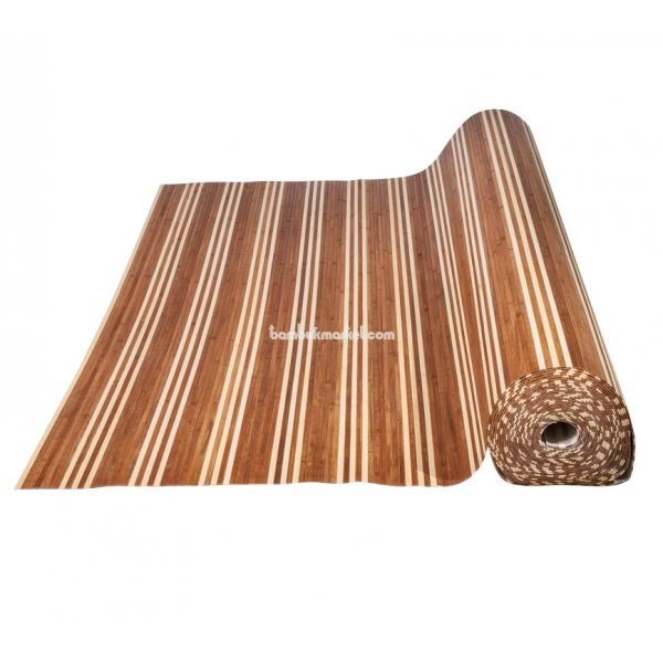 Бамбуковые обои,10х0,9м, темно/светлые,нелак.,полоса 8мм. BW-06 – фото 6