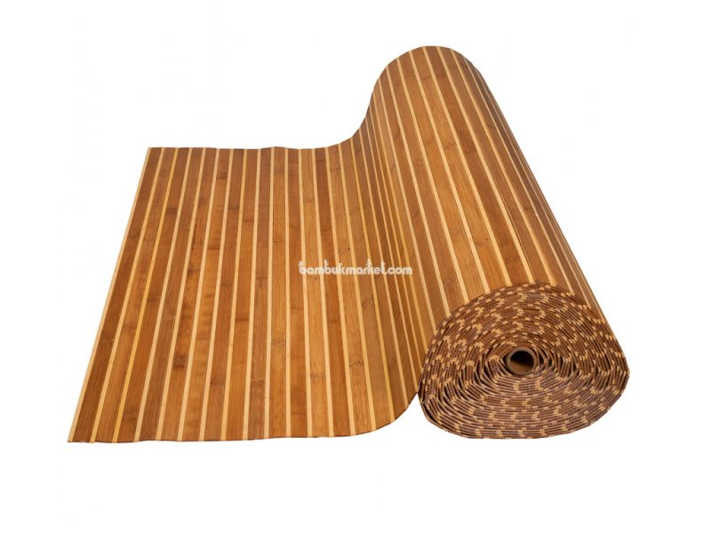 Бамбуковые обои,10х1,5м, темно/светлые,нелак.,полоса 17/5мм – фото 3