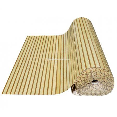 Бамбуковые обои,10х1,5м, светло/темные,нелак.,полоса 17/5мм - фото 1