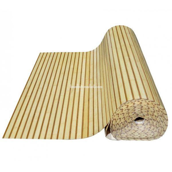 Бамбуковые обои,10х1,5м, светло/темные,нелак.,полоса 17/5мм – фото 15