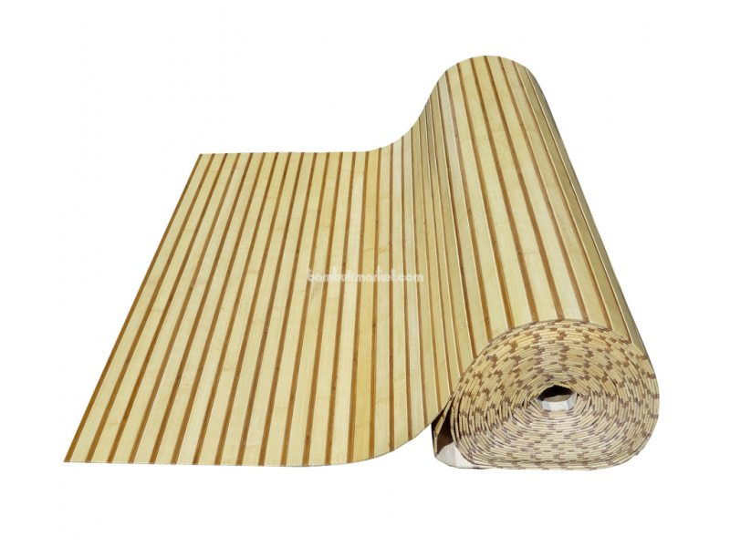 Бамбуковые обои,10х1,5м, светло/темные,нелак.,полоса 17/5мм – фото 2
