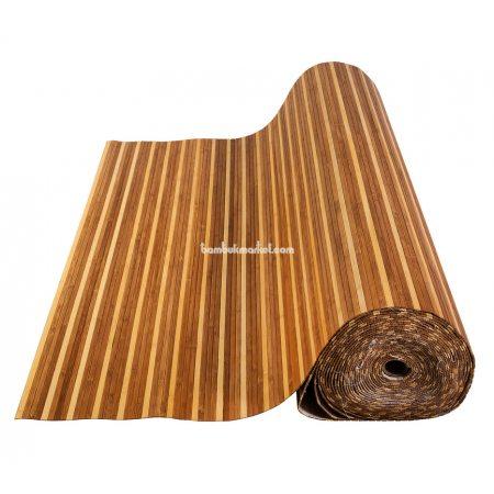 Бамбуковые обои,10х0,9м, темно/светлые,нелак.,полоса 8мм - фото 1
