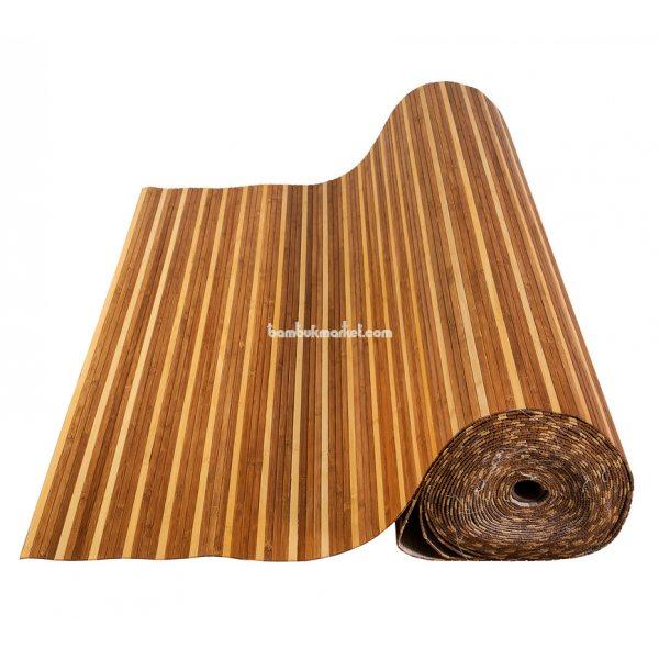 Бамбуковые обои,15х1,0м, темно/светлые,нелак.,полоса 8мм