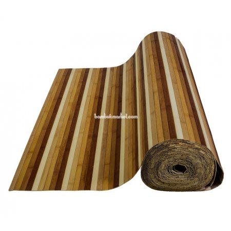 Бамбуковые обои, ширина 0,9м, цветные, нелак., планка 17мм - фото 1