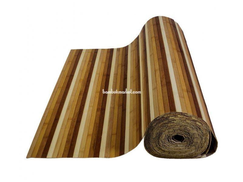 Бамбуковые обои, 10х0,9м, цветные, нелак., планка 17мм – фото 1