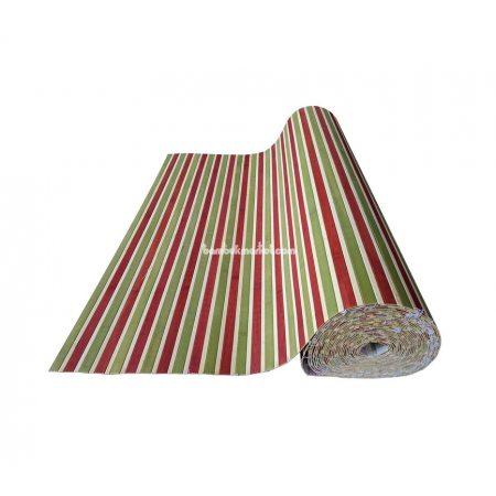 Бамбуковые обои, ширина 0,9м, красно/зеленые, нелак., планка 17мм - фото 1