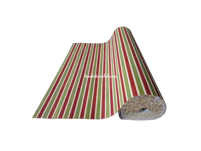 Бамбуковые обои, 10х0,9м, красно/зеленые, нелак., планка 17мм – фото 7