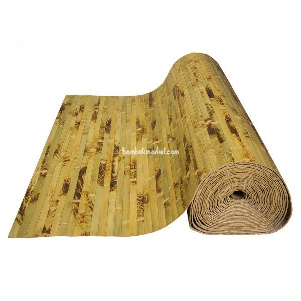 Бамбуковые обои, 10х2,5м, черепаховые, нелак., планка 17мм    – фото 12